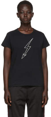 Givenchy Black Lightning Bolt World Tour T-Shirt