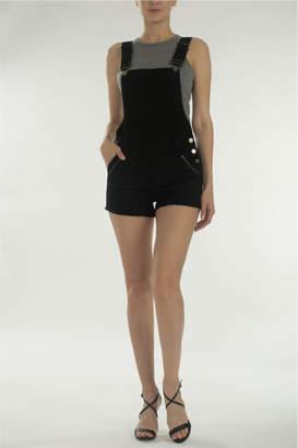 Kancan Black Overall Shorts