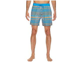 Mr.Swim Mr. Swim Flat Plaid Printed Chuck Boardshorts Men's Swimwear