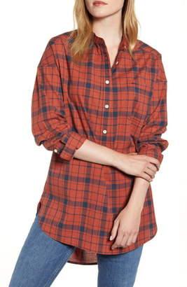 Alex Mill Plaid Popover Tunic Shirt