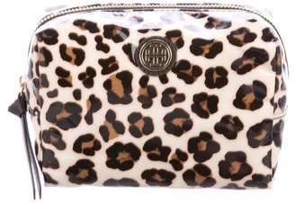 Tory Burch Leopard Cosmetic Bag