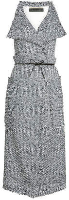 Roland Mouret Textured Gillet with Cotton and Wool