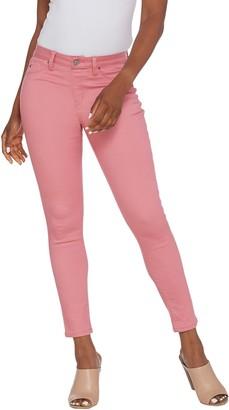 Laurie Felt Power Silky Denim Vibrant Skinny Pull-On Jeans