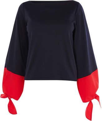 Karen Millen Wide-Sleeve Top
