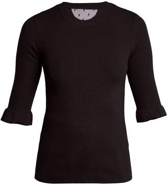 RED Valentino Fluted-cuff cashmere and silk-blend sweater