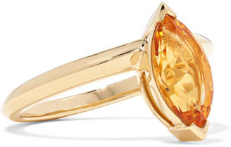 Stephen Webster Jitterbug 18-karat Gold Citrine Ring