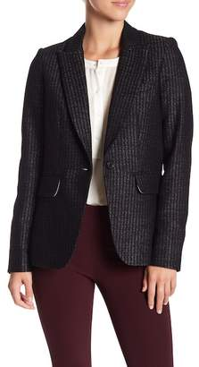 Veronica Beard Cutaway Wool Blend Jacket