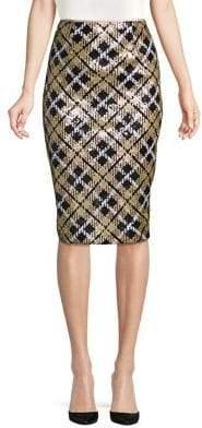Eliza J Sequin-Embellished Pencil Skirt