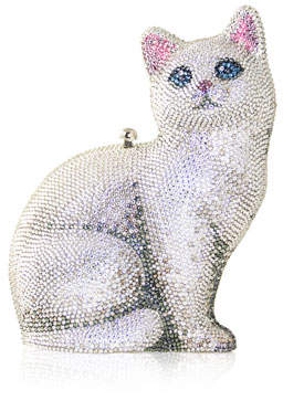 Judith Leiber Couture Cat Marie Crystal Clutch Bag