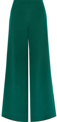 ADAM by Adam Lippes Silk-crepe Wide-leg Pants - Green