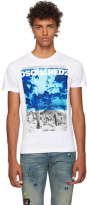 DSQUARED2 White Chic Dan Graphic T-Shirt