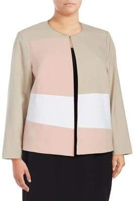 Calvin Klein Plus Open Collar Jacket