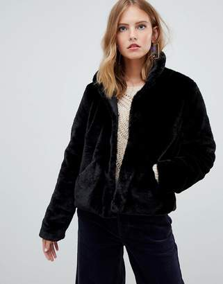 628fab52322e Faux Fur Cropped Coat - ShopStyle