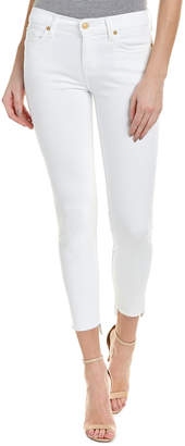 7 For All Mankind Seven 7 Gwenevere White Ankle Cut