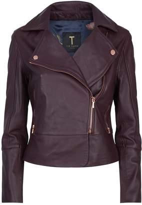 Ted Baker Lizia Leather Biker Jacket