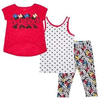 Minnie Mouse Disney Girls' Shirt, Tank, and Legging 3-Piece Set