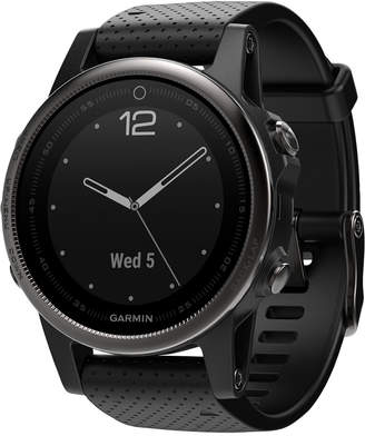 Garmin Unisex fenix 5S Sapphire Black Strap Analog-Digital Gps Smart Watch 42mm