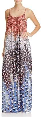 NIC and ZOE Blue Dahlia Abstract Dot Maxi Dress $188 thestylecure.com