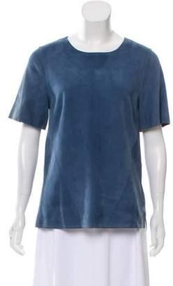 Jason Wu Suede Short Sleeve Top