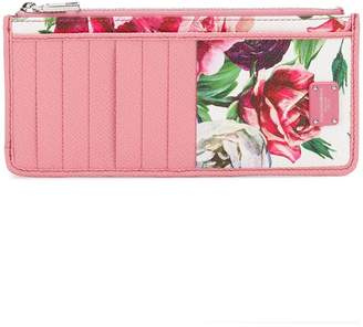 Dolce & Gabbana Peony and Rose print wallet