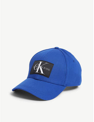Calvin Klein Monogram logo cotton baseball cap