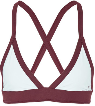 Heidi Klein - Bb Reversible Triangle Bikini Top - Sky blue $95 thestylecure.com