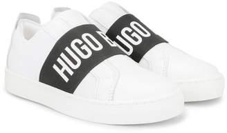 HUGO BOSS logo strap sneakers