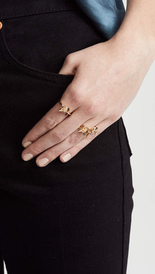 Kate Spade Social Butterfly Stackable Ring Set