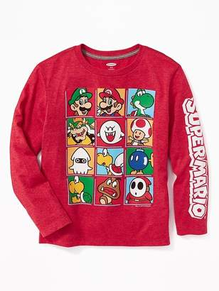 Old Navy Nintendo Super Mario Character Graphic Tee for Boys
