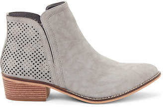 Madden-Girl Grey Paris Neville Laser Cut Ankle Boots