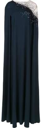 Oscar de la Renta sequin embellished cape back caftan