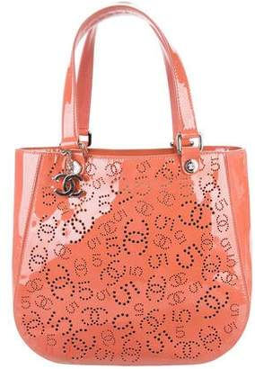 Chanel Perforated Patent Leather Tote