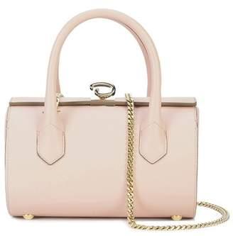 Oscar de la Renta Blush Leather Mini Battery Bag