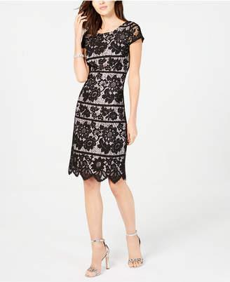 Jessica Howard Contrast Lace Sheath Dress