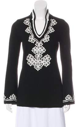Tory Burch Wool Embroidered Tunic
