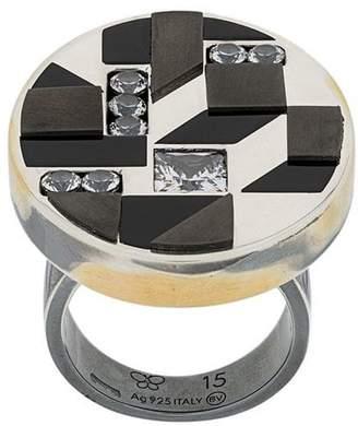 Bottega Veneta three-dimensional cubic ring