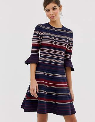 Ted Baker Tayiny stripe ottoman dress