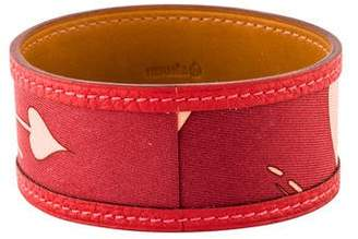 Hermes Petit H Leather & Silk Bracelet