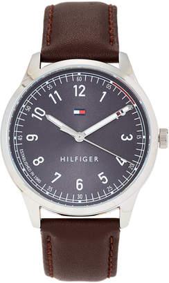 Tommy Hilfiger 1791403 Silver-Tone & Brown Watch