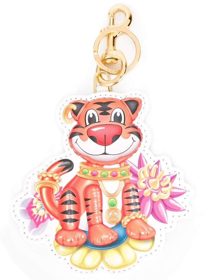 Moschino jewelled tiger keyring
