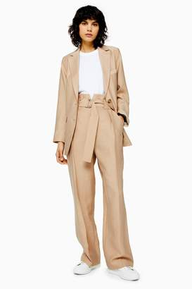 Topshop Sand Slouch Peg Trousers