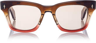 Jacques Marie Mage Two-Tone Square-Frame Acetate Sunglasses