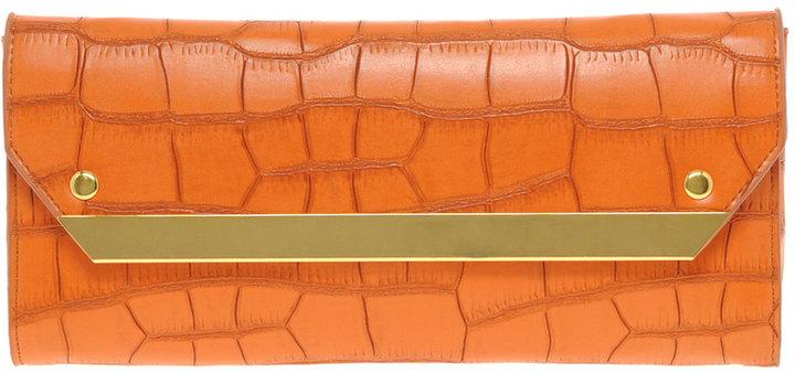 ASOS Metal Bar Croc Clutch