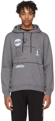 McQ Grey Acid House Clean Hoodie