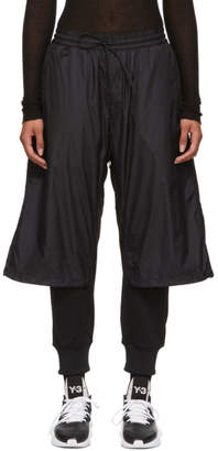 Y-3 Black Nylon Mix Lounge Pants