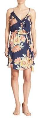 Joie Foxglove Floral Ruffled Dress