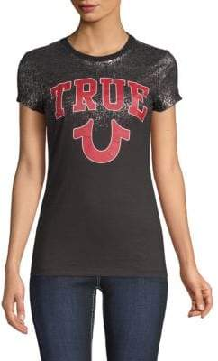 True Religion Foil Crewneck Tee