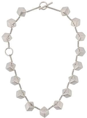 Jil Sander cube T-bar necklace