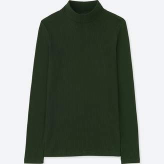 Uniqlo WOMEN Ribbed High Neck Long Sleeve T-Shirt