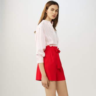 Maje Crepe shorts with belt